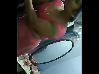 Desi Indian Bhabhi nude show on live cam in front of family. Screenrecording